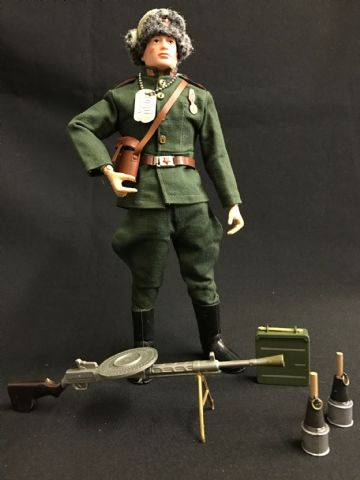 ACTION MAN - RUSSIAN INFANTRYMAN - Brown Painted Haired - Painted Rivet Figure